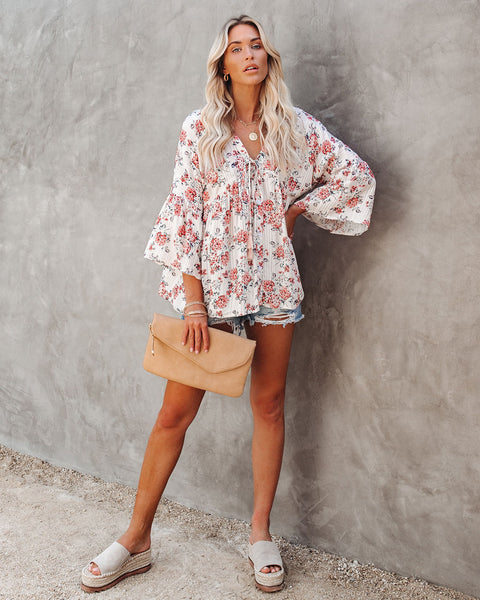 Nothing Ventured, Nothing Gained Floral Babydoll Top