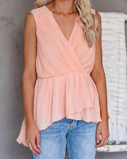 Notice You, Noticing Me Pleated Tank - FINAL SALE