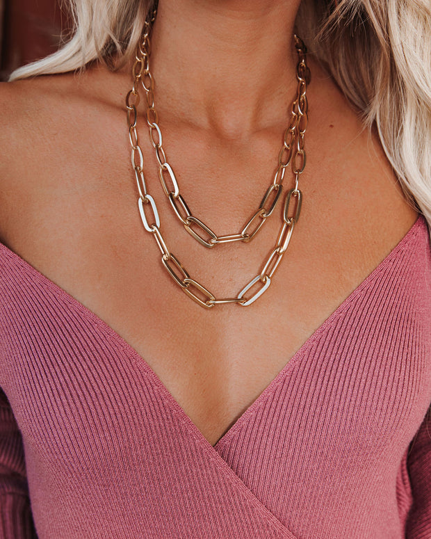 Notion Layered Chain Link Necklace
