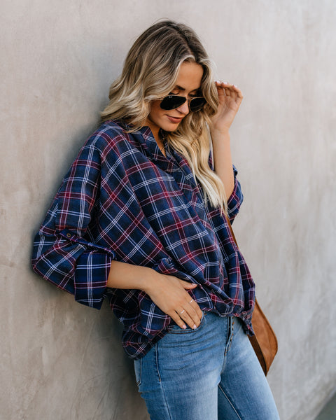 Not Your Average Plaid Cotton Twist Top