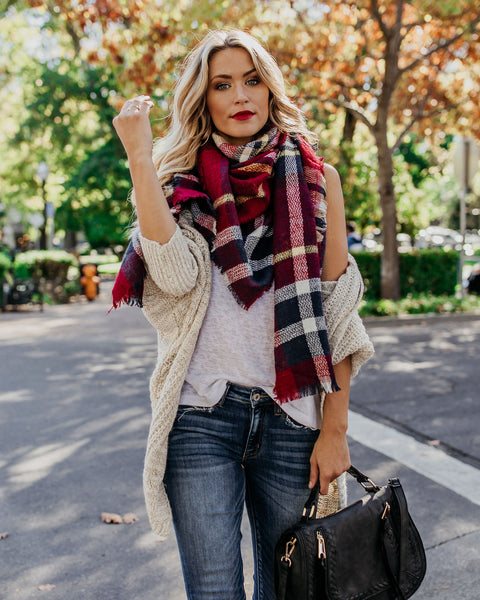 Nova Scotia Plaid Blanket Scarf