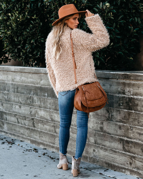 NYC Pocketed Faux Fur Jacket