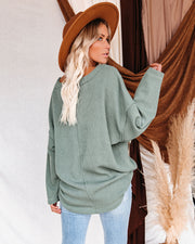 Oasis Relaxed Knit Top - Dark Sage