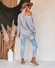 Oasis Relaxed Knit Top - Grey view 9