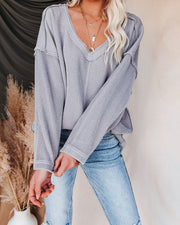 Oasis Relaxed Knit Top - Grey view 17