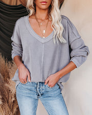 Oasis Relaxed Knit Top - Grey view 8