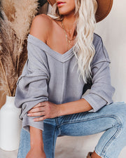 Oasis Relaxed Knit Top - Grey view 14