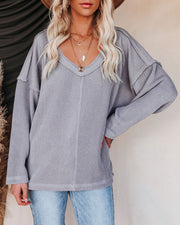 Oasis Relaxed Knit Top - Grey view 15