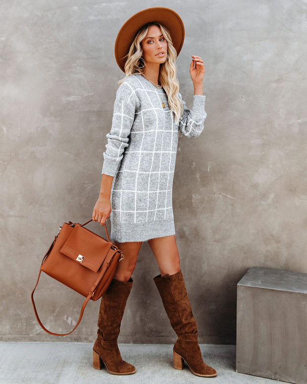 Off The Grid Knit Sweater Dress