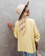 Oliver Cotton Distressed Pullover - Pale Yellow
