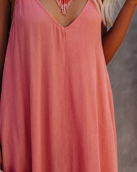 Olivian Pocketed Maxi Dress - Coral Haze