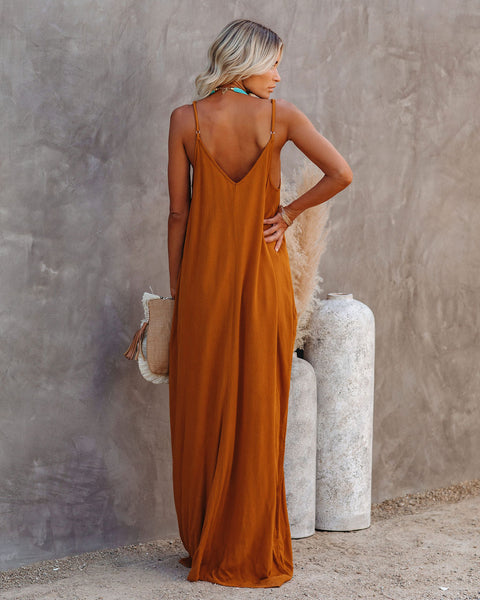 Olivian Pocketed Maxi Dress - Honeycomb