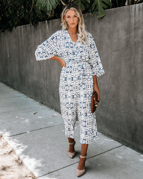 Once Upon A Time Floral Pocketed Jumpsuit