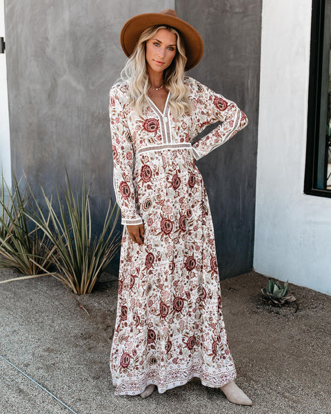 One Fine Day Floral Long Sleeve Maxi Dress
