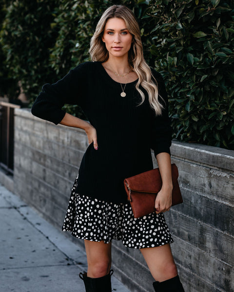 One Hundred Lifetimes Contrast Sweater Dress