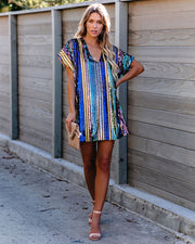 One Step At A Time Sequin Shift Dress