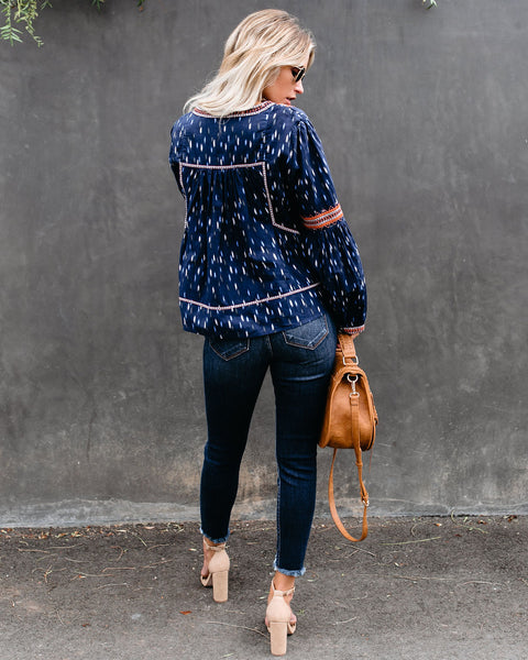 Only Human Cotton Embroidered Tassel Top - FINAL SALE