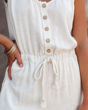 Only Love Linen Blend Pocketed Jumpsuit