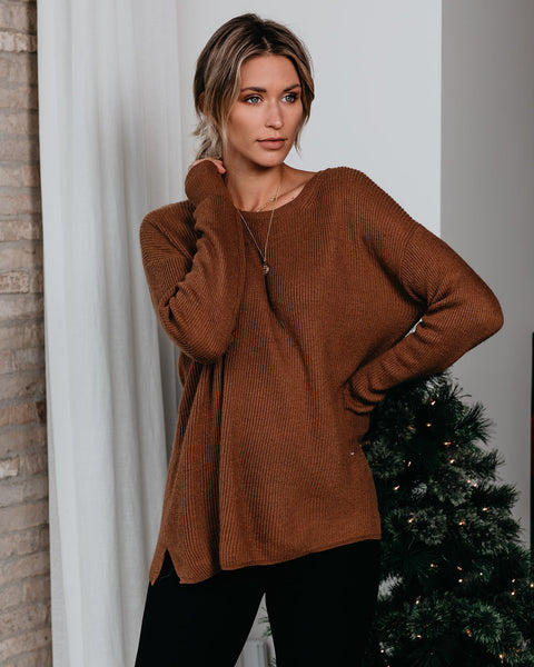 On Many Occasions Knit Sweater - Camel
