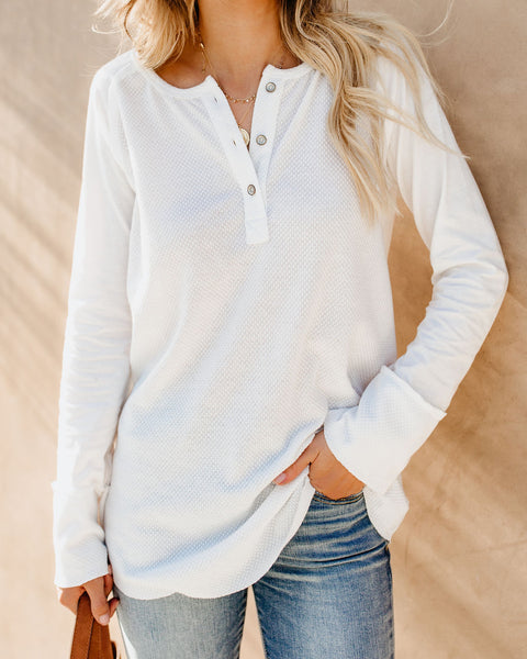 On The Slopes Thermal Henley Top