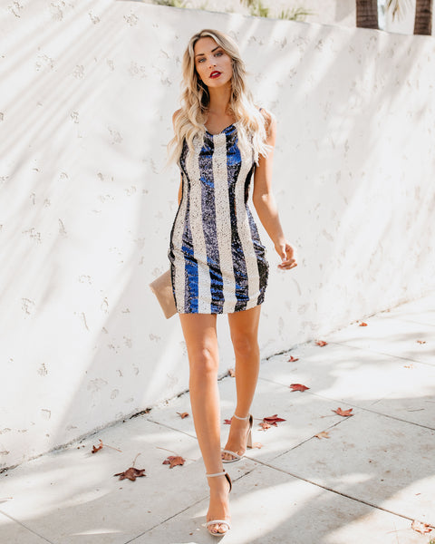 Opulence Striped Sequin Dress - FINAL SALE