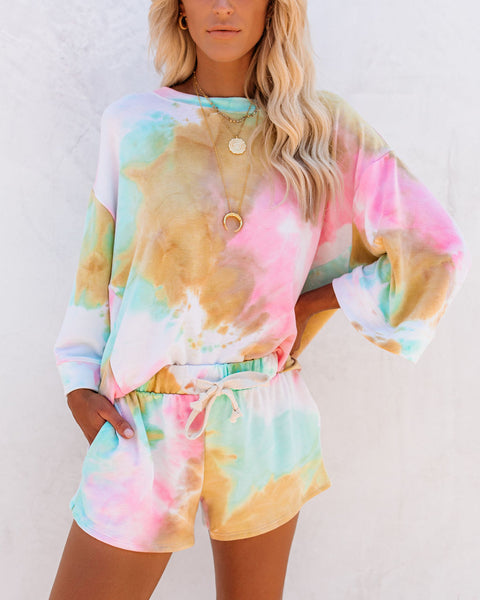 Organized Chaos Tie Dye Knit Top