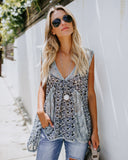 Oria Lace Contrast Tank - FINAL SALE