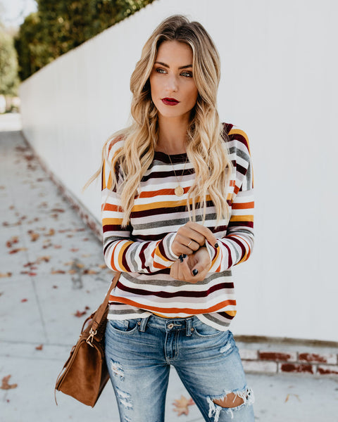 Orion Striped Knit Sweater