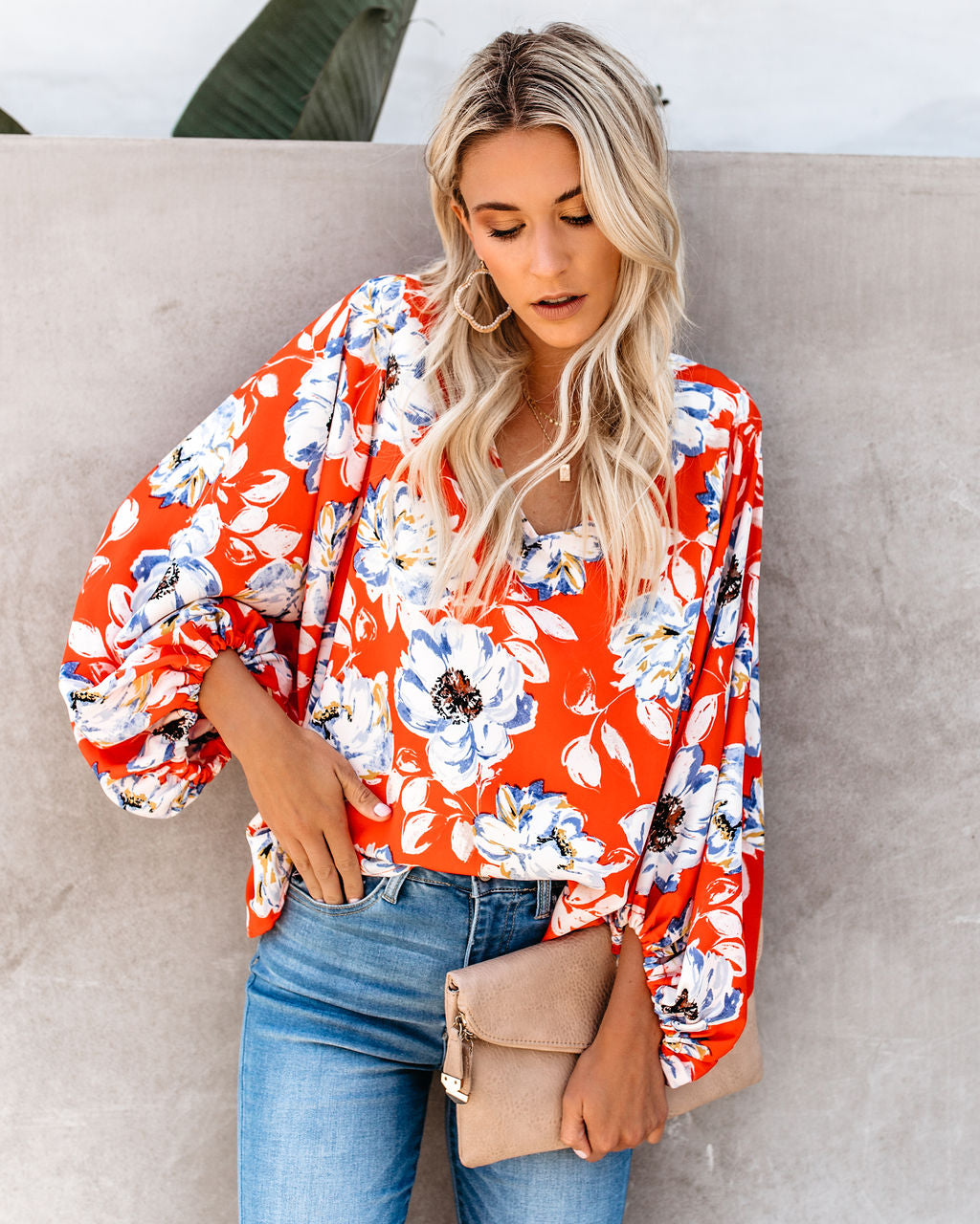 90ae27d54be0 Orlando Blooms Balloon Sleeve Blouse - FINAL SALE – VICI