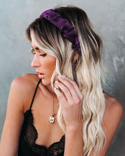 Oui Ruched Satin Headband - Purple - FINAL SALE view 1