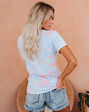 Out Of Office Cotton Blend Tie Dye Tee view 2