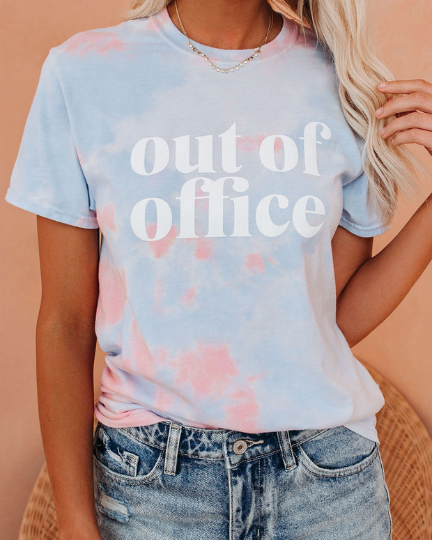 Out Of Office Cotton Blend Tie Dye Tee view 5