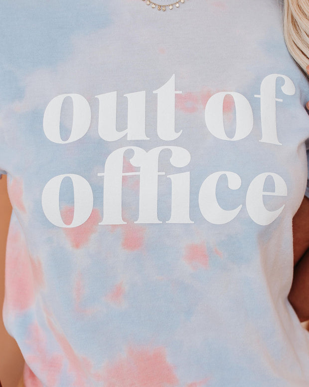 Out Of Office Cotton Blend Tie Dye Tee view 4