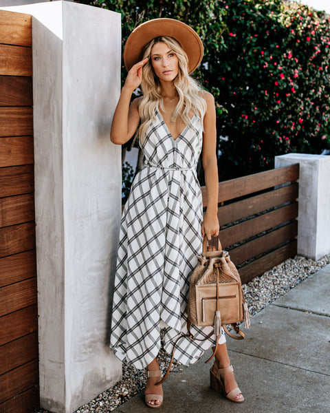 Out Of Office Versatile Plaid Dress