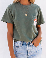 Out Of Pocket Tongue + Lips Cotton Tee