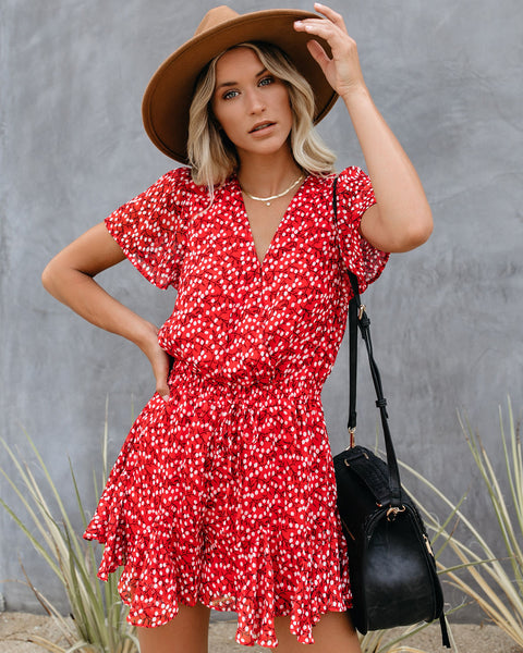 Out Of Town Floral Ruffle Romper