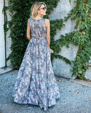 Fiona Sleeveless Diana Maxi Dress