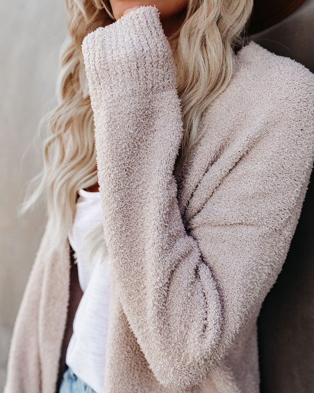 Pale September Pocketed Knit Cardigan - Almond - FINAL SALE