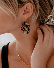 Palm Of Your Hands Tortoiseshell Earrings - FINAL SALE