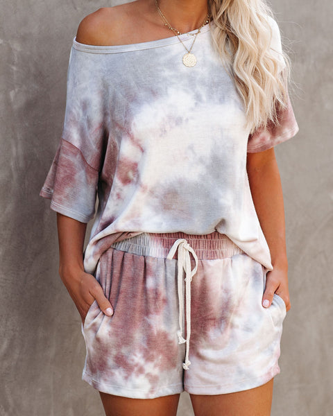 Pampered Pocketed Tie Dye Knit Shorts - FINAL SALE