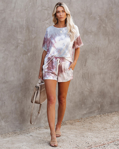 Pampered Tie Dye Relaxed Knit Top  - FINAL SALE