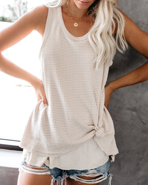 Paradise Found Thermal Layered Tank - Taupe - FINAL SALE