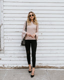 Kinsey Bell Sleeve Top - Latte