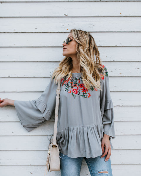 Free Soul Embroidered Boho Blouse