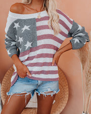 Party In The USA Relaxed Knit Pullover view 3