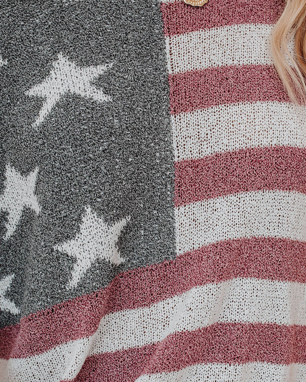 Party In The USA Relaxed Knit Pullover view 4