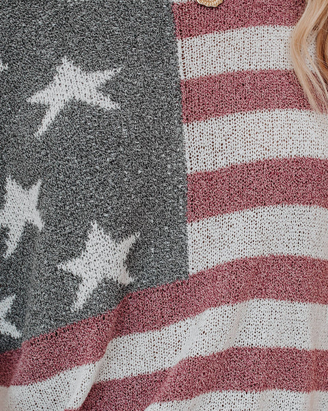 Party In The USA Relaxed Knit Pullover