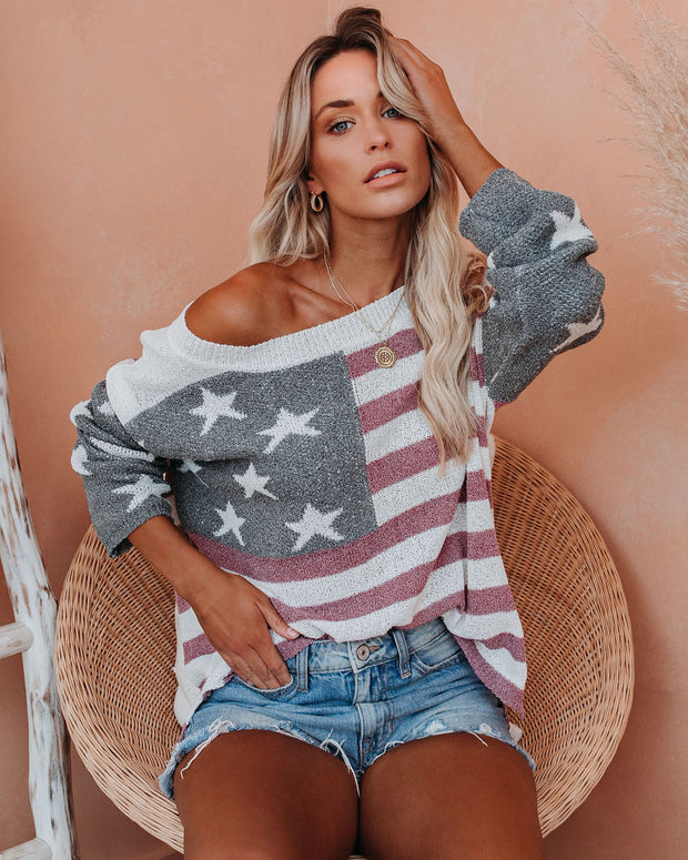 Party In The USA Relaxed Knit Pullover view 8