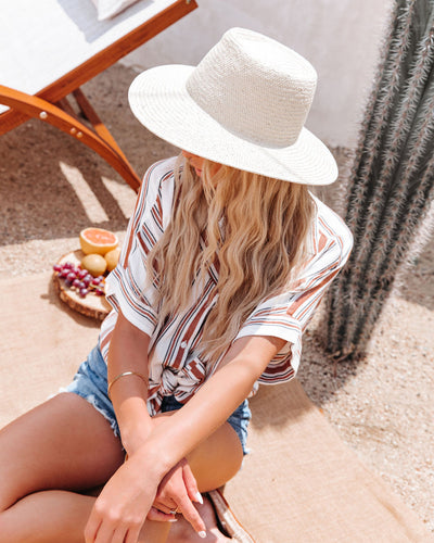 Paso Straw Boater Hat