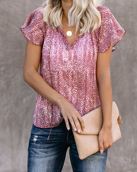 Past And Present Flutter Tie Top
